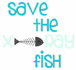 Save The X-Ray Fish embroidery design