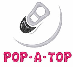Pop A Top embroidery design