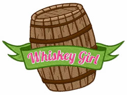 Whiskey Girl embroidery design