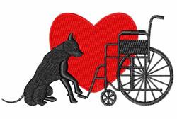 Service Dog embroidery design