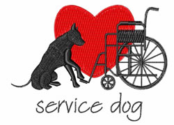 Service Dog embroidery design