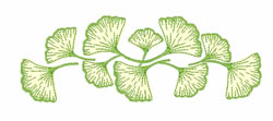 Ginko Leaves embroidery design