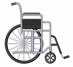 Wheelchair embroidery design