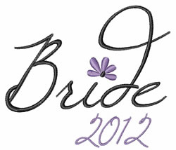 Bride 2012 embroidery design