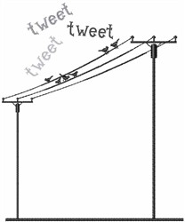 Tweet embroidery design