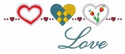 Scandinavian Hearts embroidery design