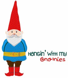 Hanging W/ My Gnomies embroidery design
