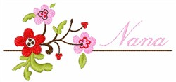 Nana Floral Pattern embroidery design