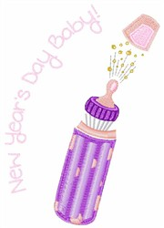New Years Day Baby embroidery design