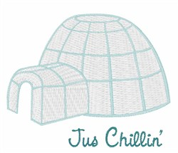 Just Chillin Igloo embroidery design