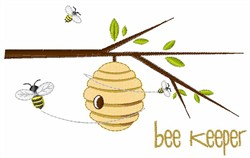Bee Keeper embroidery design