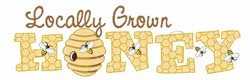 Locally Grown Honey embroidery design