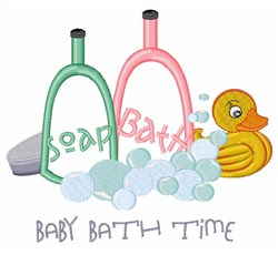 Baby Bath Time embroidery design