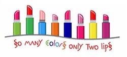 Lipstick Colors Border embroidery design