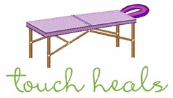 Touch Heals Table embroidery design