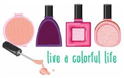 Colorful Life Nail Polish embroidery design