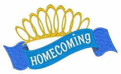 Homecoming Crown Ribbon embroidery design