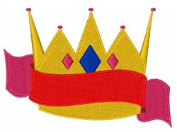 King Crown Ribbon embroidery design