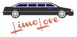 Limo Love embroidery design