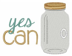Yes Can Jar embroidery design