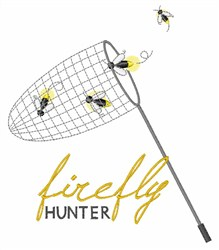 Bug Net Hunter embroidery design