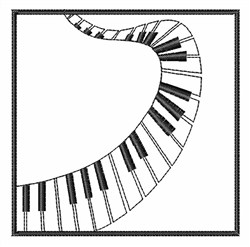 Winding Piano embroidery design