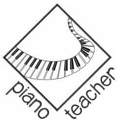 Piano Teacher embroidery design