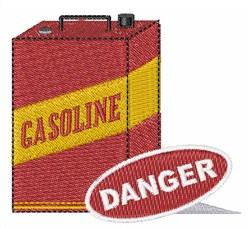 Danger Gasoline Can embroidery design