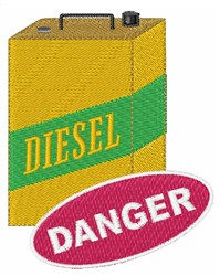 Danger Diesel Can embroidery design