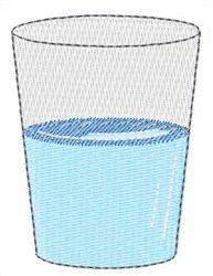 Glass Half Full embroidery design