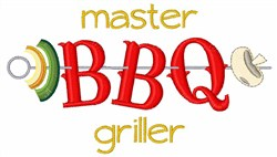 Master BBQ Griller embroidery design