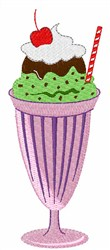 Milkshake Ice Cream embroidery design
