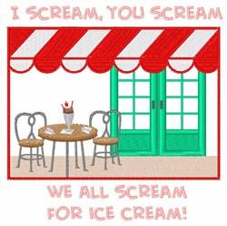 Ice Cream Store embroidery design