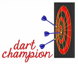 Dart Board embroidery design