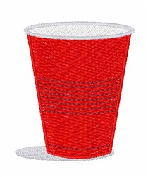 Red Solo Cup embroidery design