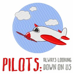 Pilots embroidery design