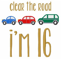 Clear The Road embroidery design