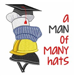 Many Hats embroidery design