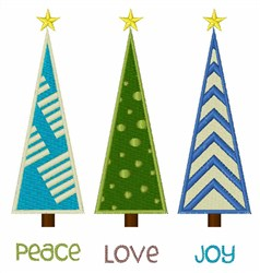Peace Love Joy embroidery design