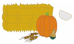 Fall Gourds embroidery design