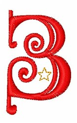 Starry Christmas Font 3 embroidery design