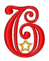 Starry Christmas Font 6 embroidery design