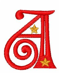 Starry Christmas Font A embroidery design