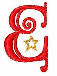 Starry Christmas Font E embroidery design