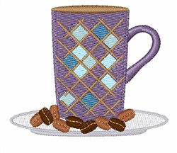 Mug & Beans embroidery design