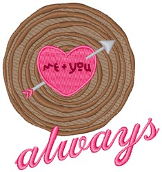 Me + You Always embroidery design