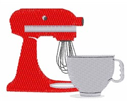 Red Stand Mixer embroidery design