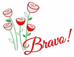 Bravo Roses embroidery design
