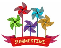 Summertime Pinwheel embroidery design