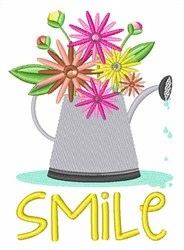 Smile Flowers embroidery design